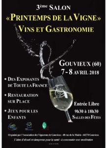 3 eme salon du vin a Gouvieux 7 et 8 avril 2018